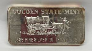 Golden Mint 10 oz. SILVER BAR