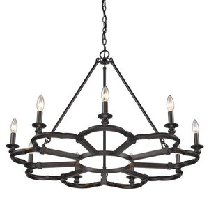 Saxon Aged Bronze 9-Light Chandelier Retail: $485.00