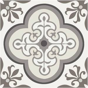 FLRA12N016 12 x 12 in. Vinyl Floor Decorative & Removable Tiles #44; Neutral Traditional