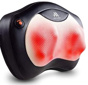 Shiatsu Neck and Back Massager - 8 Heated Rollers Kneading Massage Pillow for Shoulders, Lower Back, Calf, Legs, Foot
