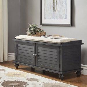 Weston Home Georgia Entryway Storage Bench