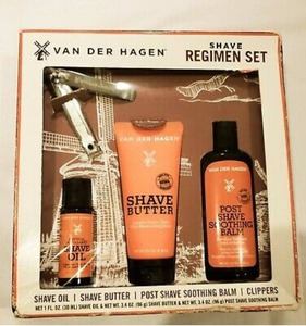 Van Der Hagen Men's Regimen Set, 4 Piece Luxury Shave Set