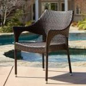 Cliff Multi Brown Wicker Outdoor Dining Chairs (Set of 2) - RETAIL - $180