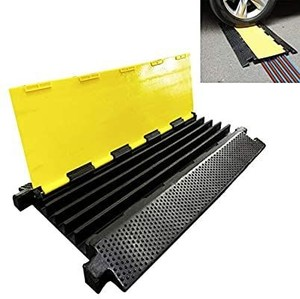 Reliancer 5 Channel Rubber Cable Protector Ramp Traffic Speed Bump