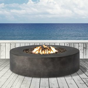 Propane Fire Pit - Fiber reinforced concrete material by Living Source International Retail: $609.99
