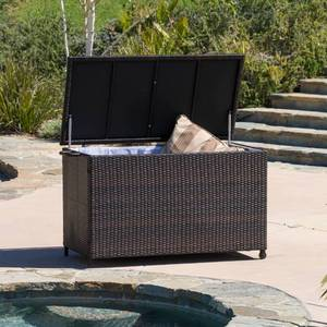 Outdoor Small Brown Wicker Cushion Box by Christopher Knight Home Retail: $262.99