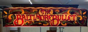 The Baltimore Bullet Promotional Lighted Billiard Sign - 47x15x14