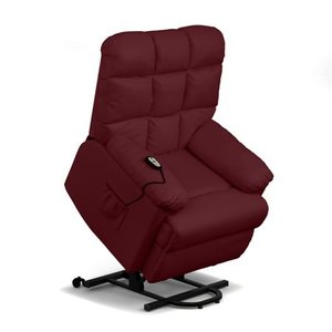 ProLounger Power Recline and Lift Chair in Burgundy Red