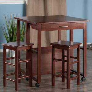 3pc Set Fremont Space Saver Walnut - Winsome