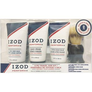 IZOD Mens Perform X 4-pc. Shave Set One Size Blue/white