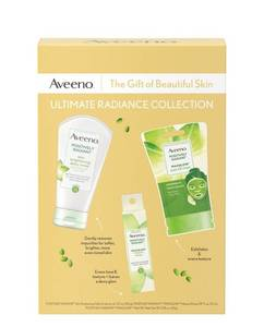 Aveeno Ultimate Radiance Collection Skincare Gift Set With Brightening Daily.