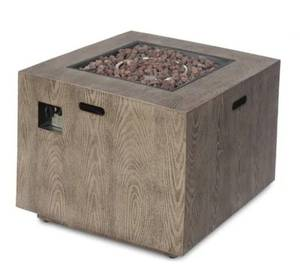 Wellington outdoor rectangular fire pit