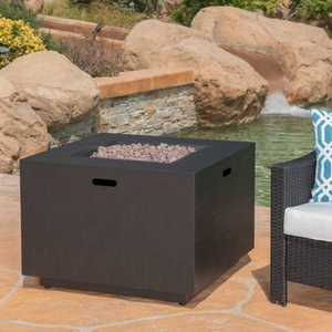 Wellington Outdoor 33-inch Square Firepit with Lava Rocks by Christopher Knight Home Retail: $462.99