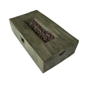 Laguna Weathered Wood Rectangular Gas Fire Pit Retail: $735.83