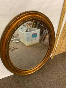 Copper Framed Oval Mirror