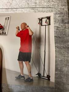 Body by Jake TOWER 200 Doorway Exercise Machine w/ Poster