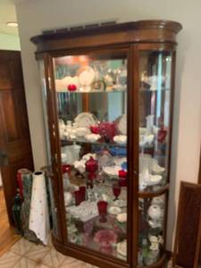 Beautiful Pulaski Display Cabinet Contents Not Included Location Front Hall