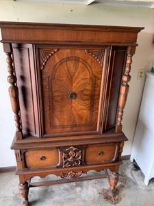 Magnificent Wood Carved China Cabinet Location Garage