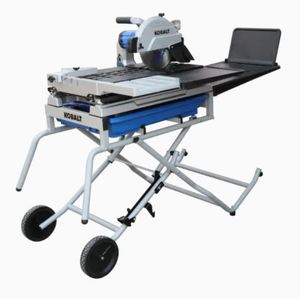 Kobalt 10-in 2.4 HP Wet Tabletop Sliding Table Tile Saw with with Stand