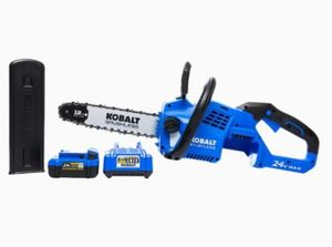 "Kobalt 24v Max Brushlesss Cordless 12"" Chainsaw 1447232 Battery & Charger"
