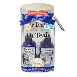 Dr Teal's 5-Piece Soothing Coconut Oil Bath and Body Gift Set
