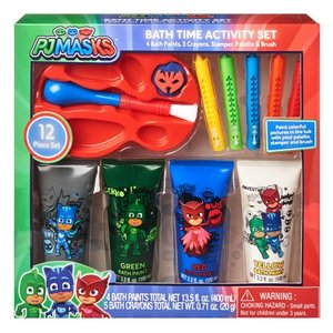 PJ Masks 12-Piece Bath Time Paint and Crayon Activity Set