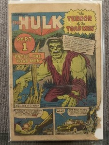 Rare Vintage Incredible Hulk (1962 1st Series) Issue #2 | Missing Cover/Damaged