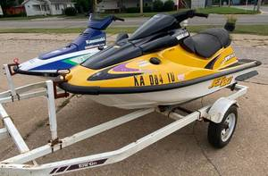 2 Kawasaki Jet Ski's with dual Trailer - Kawasaki zxi 1100 & Kawasaki with Dual Trailer