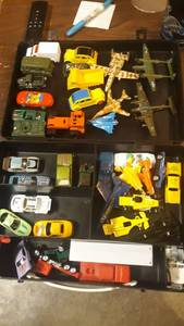 Large lot of toy cars, planes and trucks