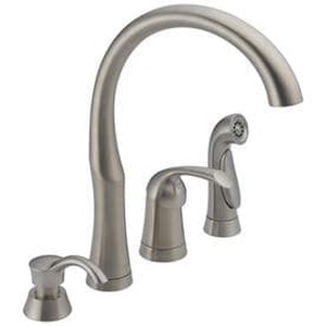 Delta Stainless High-Arc Kitchen Faucet with Side Spray