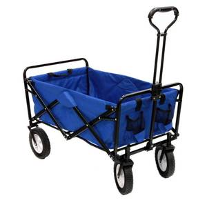 Blue Mac Sports Collapsible Folding Utility Wagon Garden Cart Shopping Beach