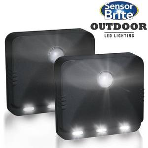Trisales Marketing 250348 Sensor Brite Outdoor Wireless Motion Activated LED Lighting - Pack of 2
