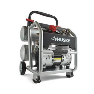 Husky 4.5 Gal. Portable Electric-Powered Silent Air Compressor