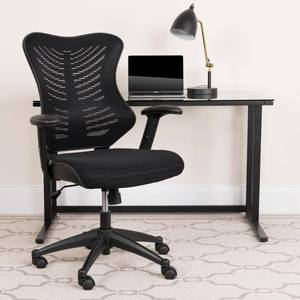 Executive Swivel Office Chair with Mesh Padded Seat Black - Flash Furniture