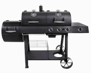 Oklahoma Joe's Longhorn Black Triple-Function Combo Grill