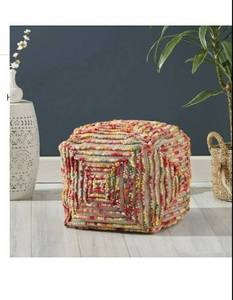 Carnellon Boho Cube Wool Pouf by Christopher Knight Home