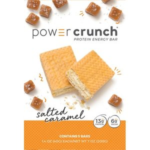 Power Crunch Protein Energy Bar Salted Caramel 5pk Retail $14.96
