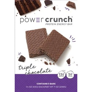 Power Crunch Original Protein Bar, 13g Protein, Triple Chocolate, 7 Oz, 5 Ct EXP 9/2021 Retail $14.99