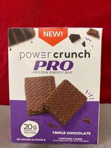 Power Crunch PRO Protein Energy Bar Triple Chocolate 4pk EXP 6/2021 Retail $13.99