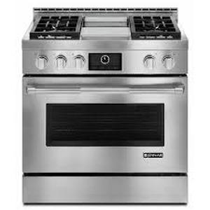 Jenn-Air JLRP536WP 36IN Pro-Style Range with Griddle and MultiMode Convection System. Retail $6925