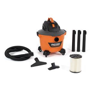 9 Gal. 4.25-Peak HP NXT Wet/Dry Shop Vacuum with Filter, Hose and Accessories, Oranges/Peaches