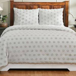 Better Trends Athenia Collection in Polka Dot Design 100% Cotton Tufted Chenille Comforter- Retail:$182.49