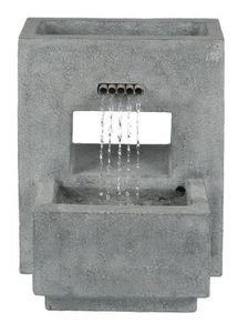Stone Finish Pedestal Outdoor Patio Fountain