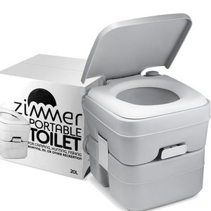 Comfort Portable Toilet 5 Gallon Capacity, RV Toilet With Detachable Tanks, Easy To Use for Camping Toilet or Travel- Retail:$78.48