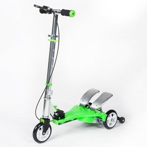 Bike Rassine Kid's Ped-Run Dual Pedal Scooter, Greener