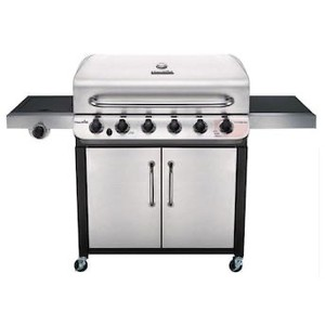 Char-Broil Performance Stainless 6-Burner Liquid Propane Gas Grill with 1 Side Burner