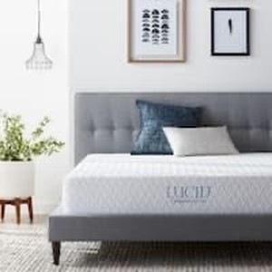King Size LUCID Comfort Collection 10-inch Luxury Gel Memory Foam Mattress Retail:$447.49