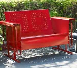 Bates Loveseat Glider in Red