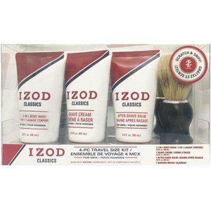 IZOD Mens Classics 4-pc. Shave Set One Size Red/white