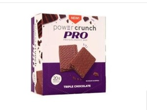 (4)Power Crunch Pro Protein Energy Bars, 20g Protein, Triple Chocolate EXP 06/21 RETAIL $11.99